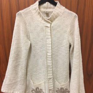 Prana Knit Wool Long Cardigan Sweater Duster Small